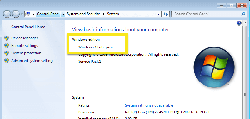 Windows 7 издание