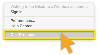 dropbox'tan çık